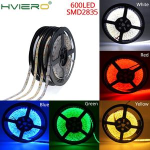 5M 2835 3528 SMD LED Strip Waterproof Flexible Home Light IP65 600LEDs 120leds/m White Warm-White Red Green Blue Yellow DC 12V