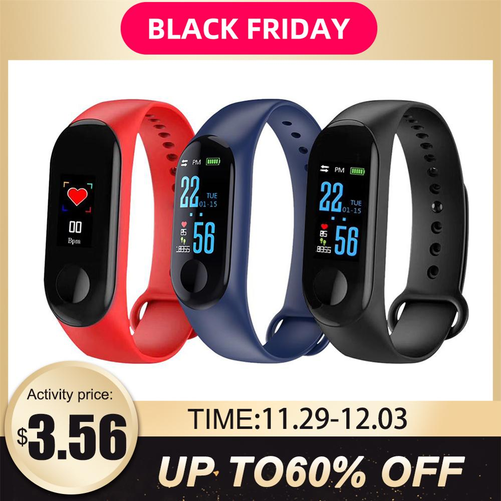 M3 Color Smart Screen Sport Fitness Bracelet Blood Pressure Activity Tracker Smart Bracelet For Men Women Watches