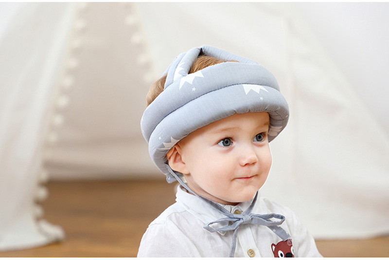 Adjustable Baby Hat Protective Anti-collision Safety Helmet Baby Cap Toddler Kids Hat for Girl Boy Accessories Cotton Mesh 6M-5Y 03