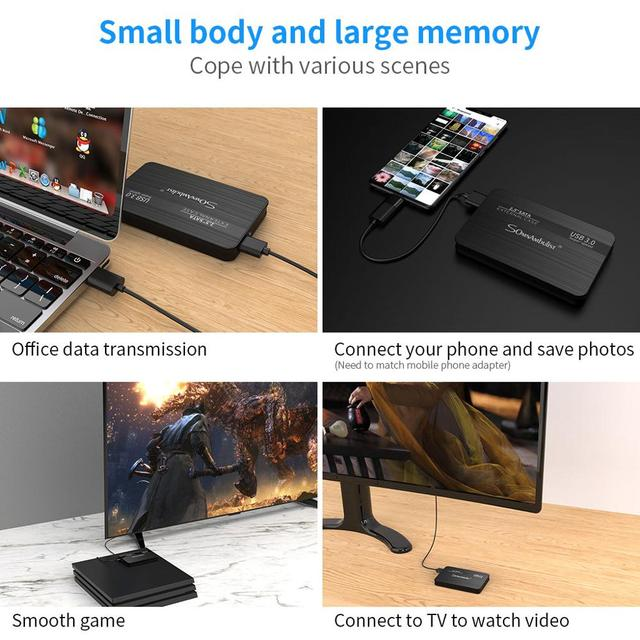 External Hard Drive 2.5 Portable Hard Drive HD Externo 1 TB 2 TB USB3.0 storage, 5