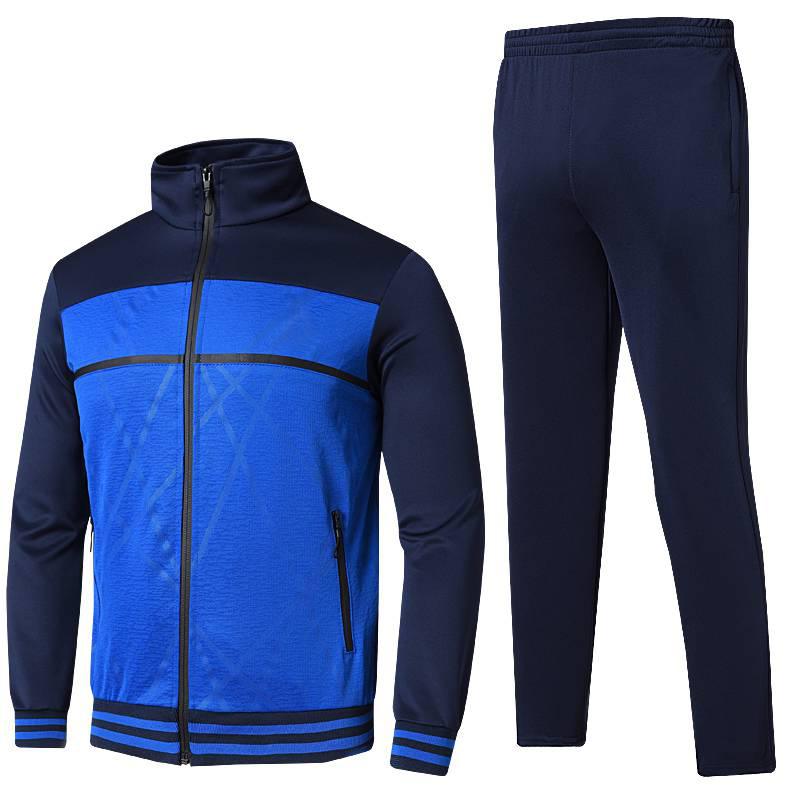 Outono casual algodão jaqueta esportiva + calças