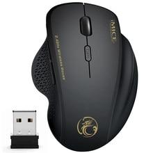 Mouse senza fili Del Mouse Ergonomico Per PC Mouse Del Computer Mause Ottico con Ricevitore USB 6 tasti 2.4Ghz Wireless Mouse 1600 DPI Per Il Computer del computer portatile