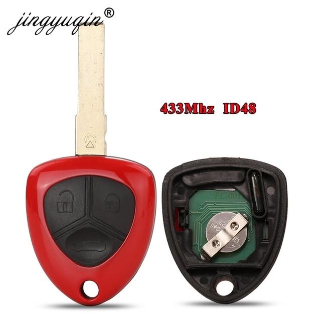 jingyuqin 3 Button Remote Smart Car Key 433MHZ ID48 Chip for Ferrari 458 Italia California 599 GTB Fiorano FF Complete Horse Fob