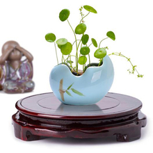 6-12cm Buddha Incense Flowerpot Wood Carving Teapot Base Diameter Real Solid Wood Carving Vase Base Stone