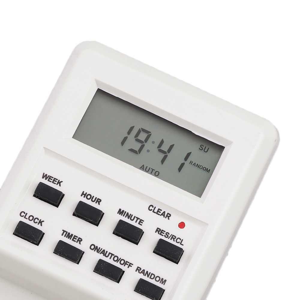 OUTAD ABS Plug-in ตั้งโปรแกรมได้ Timer Switch SOCKET นาฬิกาฤดูร้อนฟังก์ชั่นสุ่ม 100-240V EU Plug timer Switch DropShipping