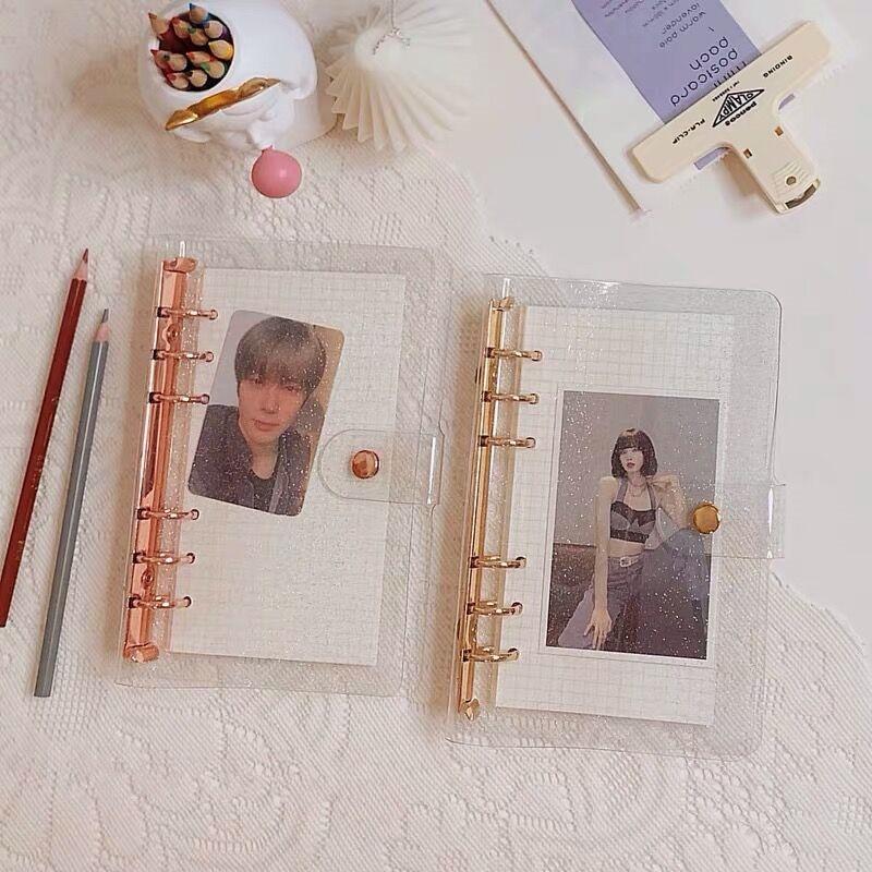 Обложка для блокнота MINKYS A7/A6/A5, розово-золотистая, фиолетовая, синяя, блестящая, с блестками, Обложка для дневника, ежедневника, планировщика,...