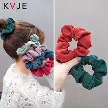 KVJE Elastic Hair Bands Hairbands Womens Accessories Factory  Promote Sales Scrunchie Velvet Haar Accessoires