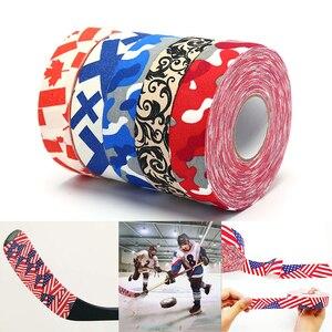 1Roll 2.5cm*25m Hockey Stick Tape Multipurpose Colorful Sport Safety Cotton Cloth Enhances Ice field Hockey badminton Golf Tape
