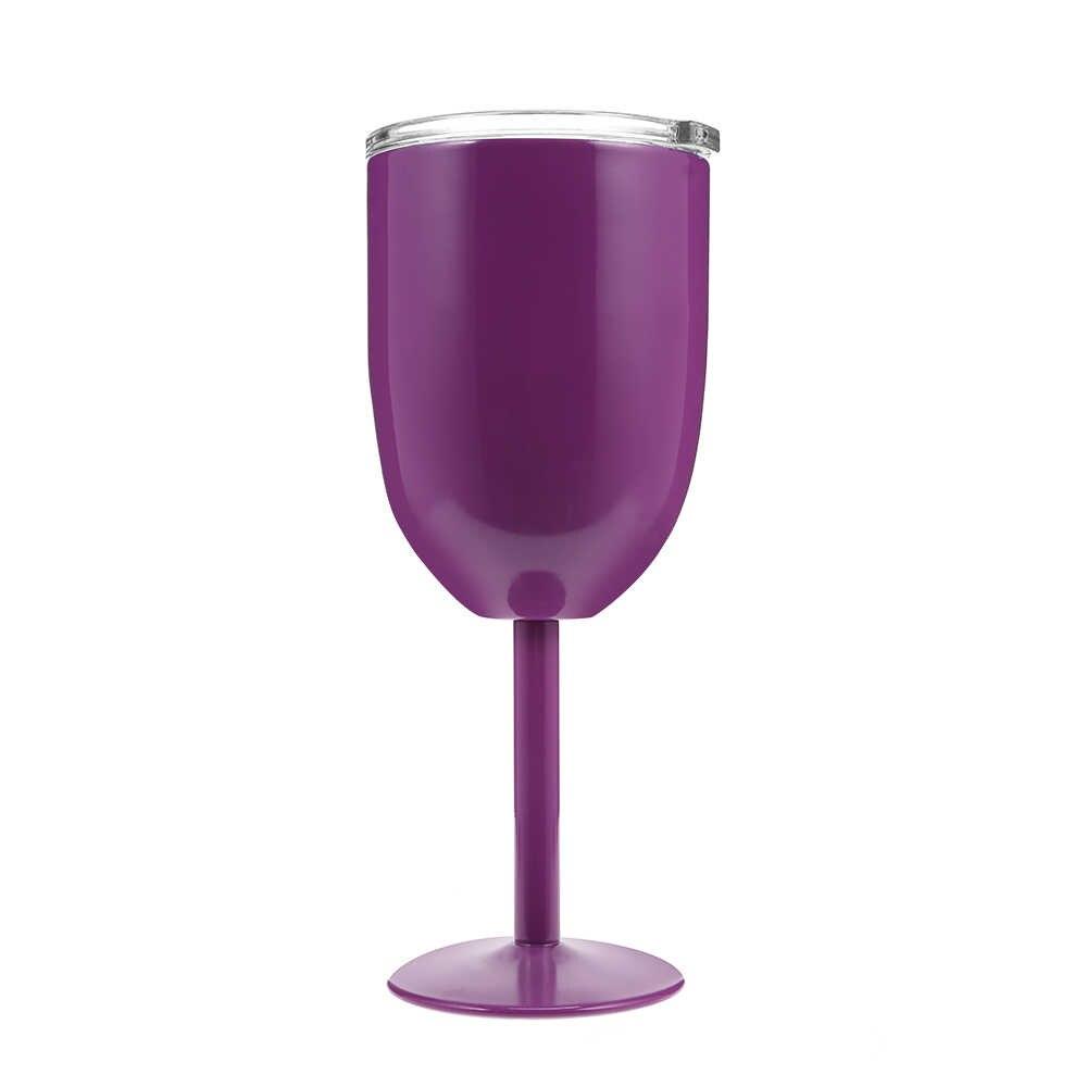 In Acciaio Inox Calice Tazza di Vino Rosso Auto Auto Tazza di Doppio Strato Cocktail Durevole Calice Di Vetro Coperchio Bere Ware Tazza di Vetro partito