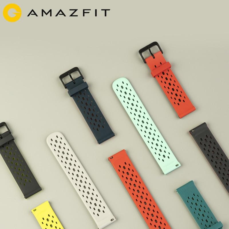 NEUE Original Strap 20mm Amazfit Smart Uhr Strap für Xiaomi Original Amazfit Bip Bip Lite GTR 42mm Uhr amazfit Smartwatch