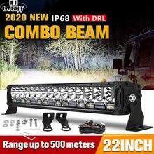 CO ضوء 2020 أحدث تصميم ترقية قضيب مصابيح عملي LED 22 بوصة 300 واط 42000LM بقعة الفيضانات كومبو DRL عمود إضاءة Led أضواء ل قارب 4WD SUV
