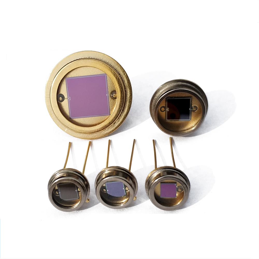 Taidacent High Precision Silicon Photocell Sensor Linear Photo Diode LED Photovoltaic Monocrystal Cells Kit Metal Case MQ Series