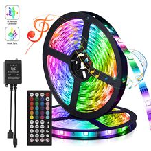 5050 Led Strip Bluetooth Led Backlight Staircase Lighting Built-in Mic Night Lights Bedroom Decor Led Light with Remote Control