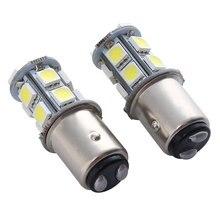 2 adet 1157/BAY15D LED direksiyon gündüz işık DC12 1.5W fren lambası gündüz çalışan ışık süper parlak yüksek kaliteli araba ampulü