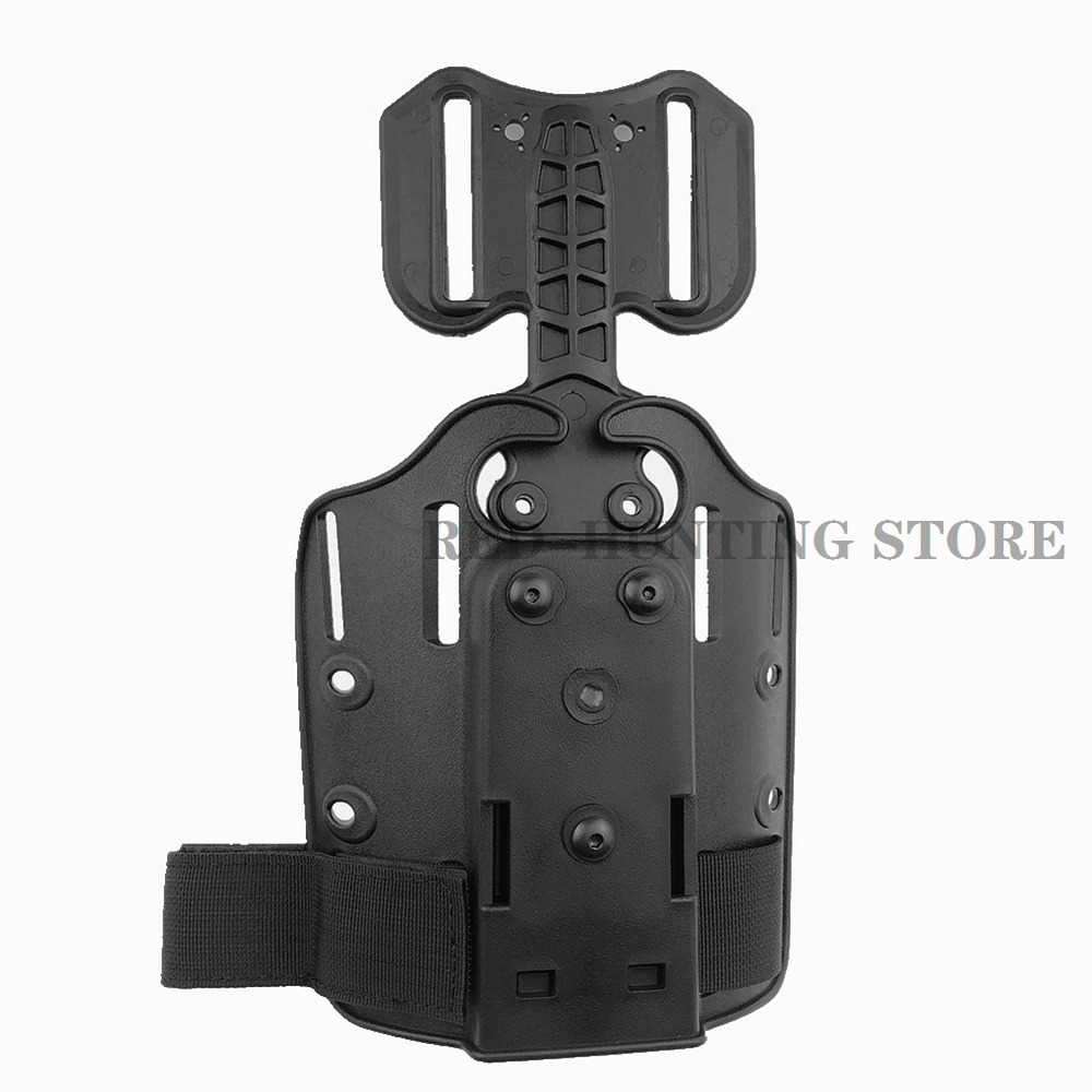 Safarilan Small Tactical Plate With One Leg Strap Drop Leg GUn Holster Adapter Holster Platform Universal Series