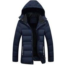 2019 Men Long Winter Parka Coats Outdoor Warm Thick Jacket Fur Hooded Coat Jacket Solid Zipper Male Coat Men Clothing S-4XL authentic nike men s kobe blazer sport knit breathable jacket hooded coat grey green