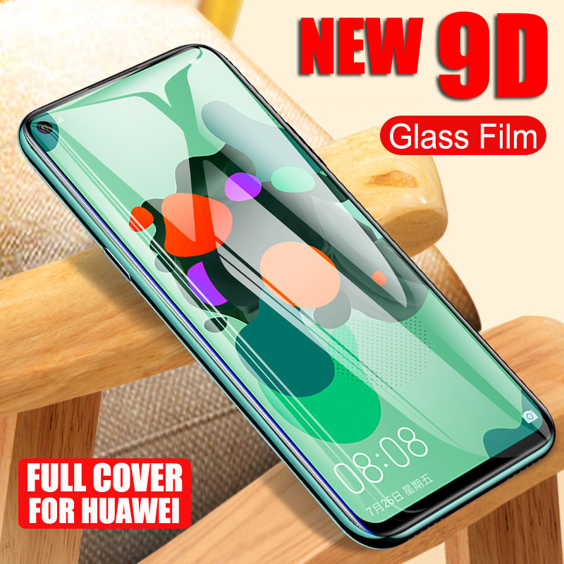 9D Full Cover Tempered Glass For Huawei Nova 3 4 5 5T 5i 4E 3E 3i Screen Protector For Huawei P20 Pro P30 Lite Protective Glass