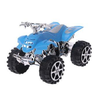 Juguete educativo para niños U50F, simulación de Mini inercia, vehículo de motocicleta de playa de 4 ruedas, modelo de Motocross