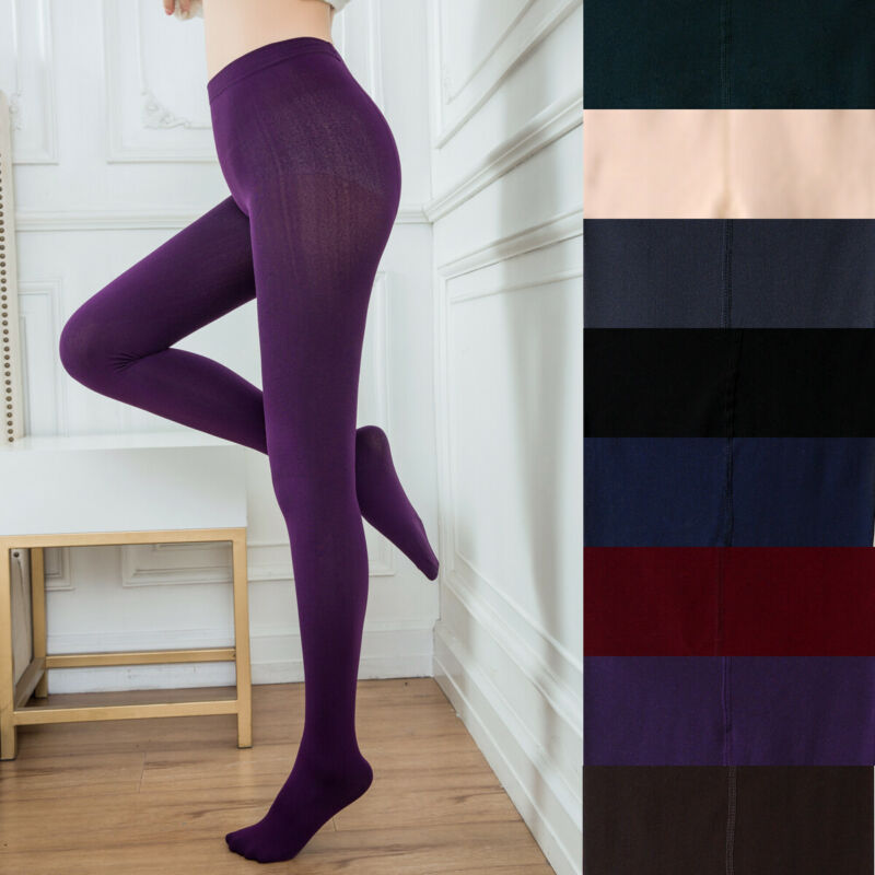 Hirigin Women Winter Thermal Thick Warm Solid Color Fleece Lined Stretch Pants Skinny Slim Legging