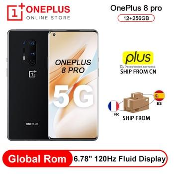 Перейти на Алиэкспресс и купить Oneplus 8 Pro смартфон с глобальной прошивкой, 5G, Snapdragon 865, 12 Гб, 256 ГБ, 6,87 дюйма, 120 Гц, жидкокристаллический дисплей, 48 МП, Quad Cams, 30 Вт, Беспроводная за...
