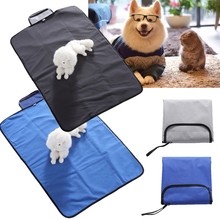 Pet Mat Dog Waterproof Blanket pet Indoor Outdoor Blue/Black D30