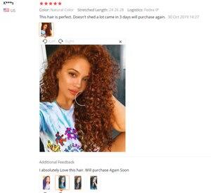 Image 5 - Sweetie Indian Hair Afro Kinky Krullend Hair Extensions 100% Menselijk Haar Weave Bundels Natuurlijke Kleur 3/4 Stuks 100G Non  Remy