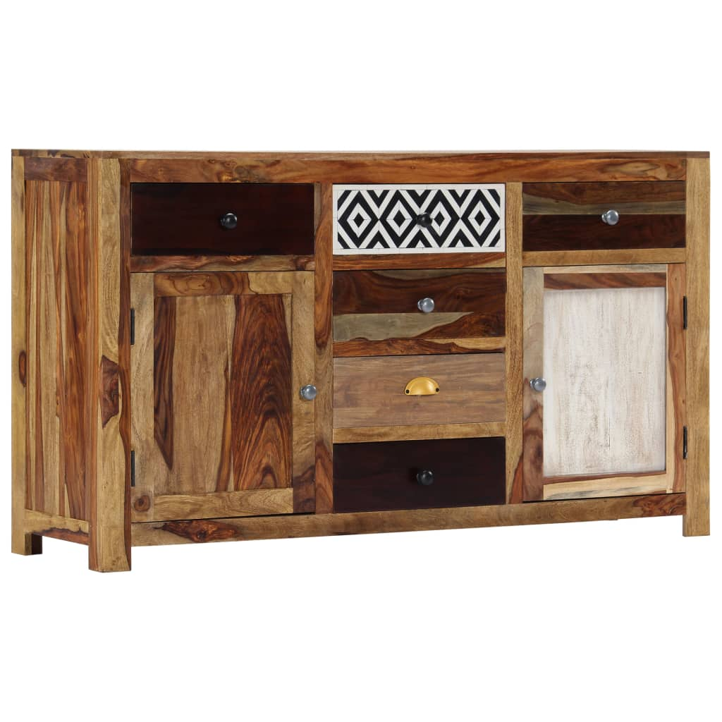 VidaXL Sideboard 140x40x80 Cm Solid Sheesham Wood