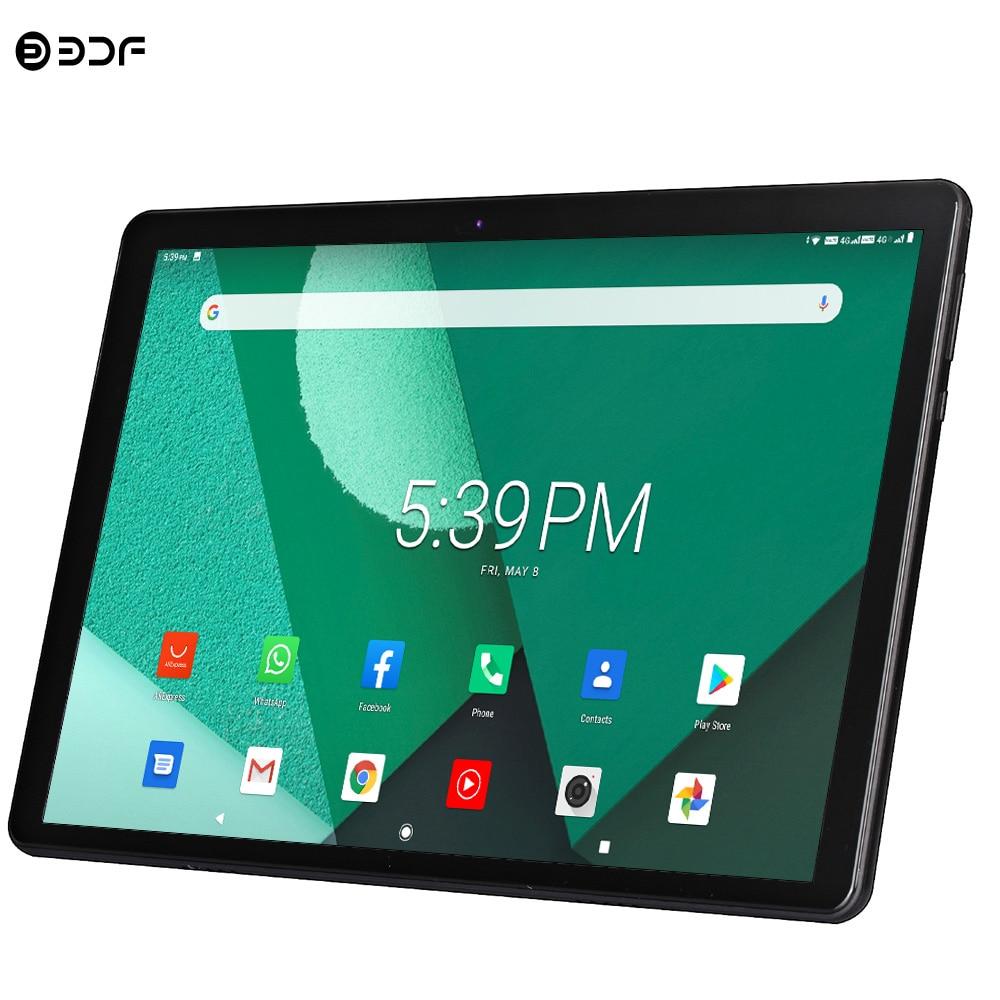 Novo tablet pc 10.1 polegada android 9.0 tablets octa núcleo google play 3g 4g lte telefone chamada gps wifi bluetooth vidro temperado 10 polegada