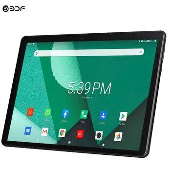 Nowy Tablet Pc 10.1 cala Android 9.0 tablety Octa Core Google Play 3g 4g LTE połączenie telefoniczne GPS wi-fi Bluetooth szkło hartowane 10 cali
