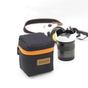 Image 3 - 1 pièces 7mm dépaisseur rembourré sac dobjectif de caméra antichoc Durable souple objectif de caméra pochette de protection sac étui pour objectif de caméra DSLR