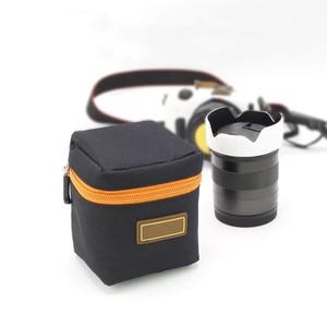 Image 3 - 1PCS 7mm Thick Padded Camera Lens Bag Shockproof Durable Soft Camera Lens Protective Pouch Bag Case for DSLR Camera Lens