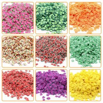 200Pcs Adição Slime Fruit Fimo Bead Encantos Slime para encantos Beads DIY Nail Mobile Beauty Powder em Slime Supplies Sprinkles 1
