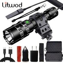 Taschenlampe Led Remote Schalter Aluminium 8000lm Stoßfest, Harte Glühbirnen L2 Wiederaufladbare Litwod Camping, Jagd