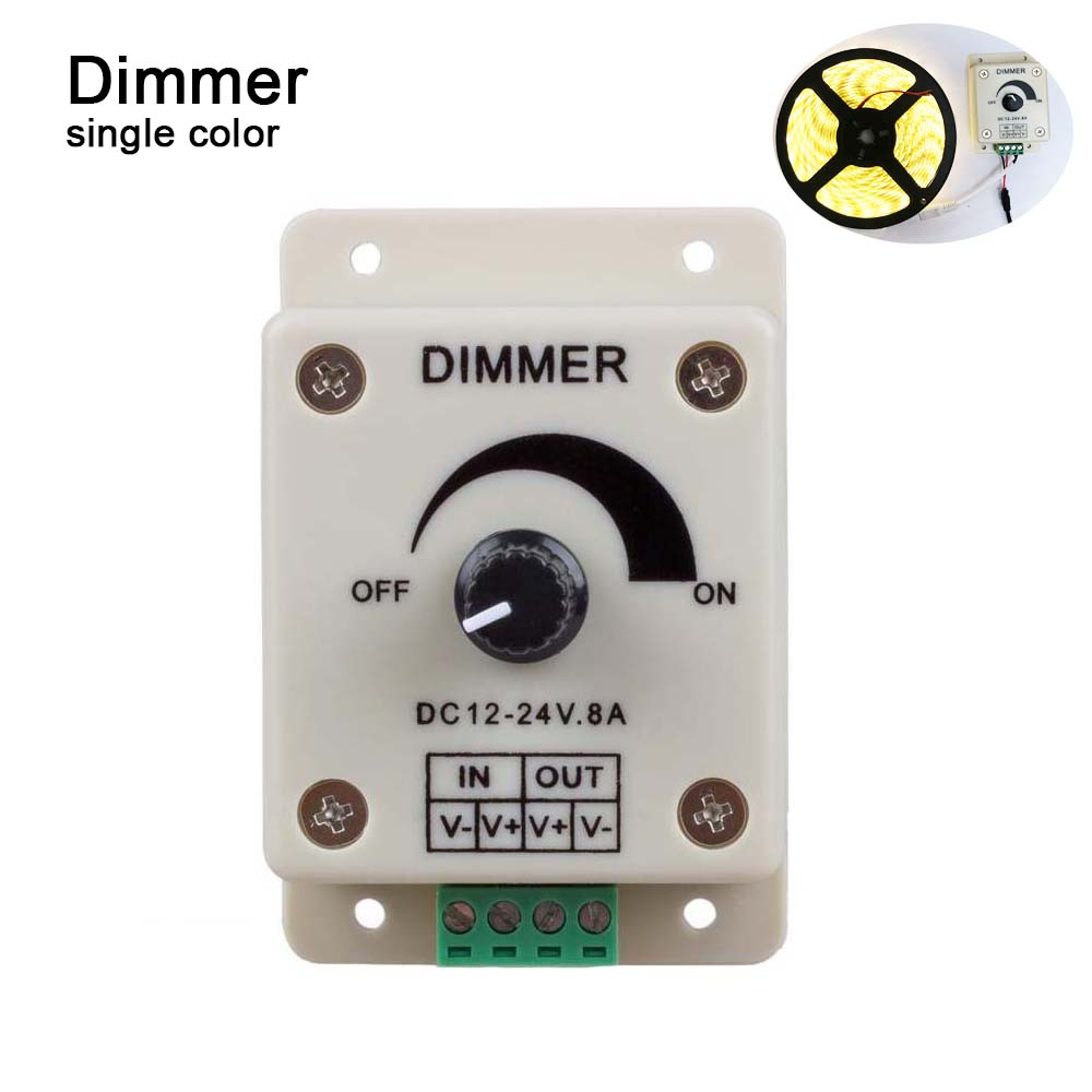 PWM Dimming Controller For LED Lights Ribbon Strip 12 - 24 Volt (12V - 24V) 8 AmpElectrical Dimmer Switches For Home