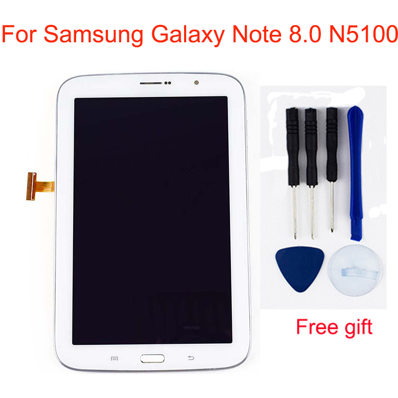 LCD For Samsung Galaxy Note 8.0 N5100 GT-N5100 N5110 Touch Screen Digitizer Sensor LCD Display Screen Panel Assembly Frame