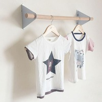 Nordic Clothes Hanging Kids Coat Hanger Rack Wall Decor Baby Room Storage Home Decoration Wall Hanging Rack Decoration HM0043