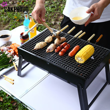 BBQ Grill Portable Outdoor Charcoal Grill Plating Iron And Stainless Steel Grilled Net Camping Picnic Thickened Barbecue Grill