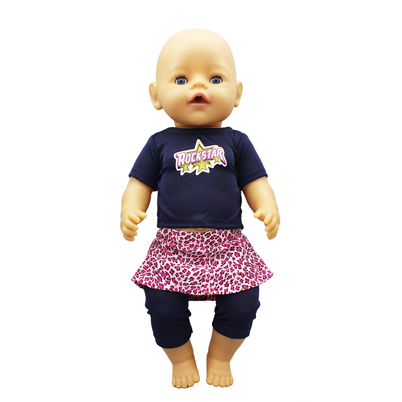 Hot Suit Doll Clothes Fit 17 Inch 43cm Doll Clothes Born Baby Suit For Baby Birthday Festival Gift