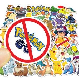 Image 4 - 50 Stuks Takara Tomy Pokemons Stickers Voor Bagage Skateboard Telefoon Laptop Moto Fiets Muur Gitaar Sticker Diy Waterdichte Sticker