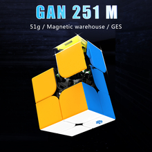 New Original GAN251 M 2x2x2 Magnetic Speed Cube Professtional Stickerless Magnets Puzzle Cubo Magico2x2 Educational Toys For Kid