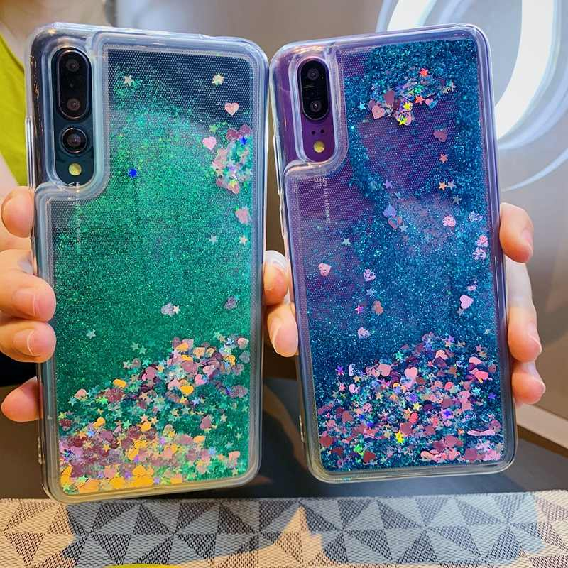 Glitter Liquid Quicksand Soft TPU Cover For Huawei P30 P20 Mate 10 20 30 Nova 3 Honor 8 8X 8A 9 10 10i 20 20i Lite Pro Case