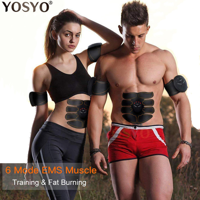 EMS Muscle Stimulator Trainer Smart Fitness Abdominal Training Electric Body Weight Loss Slimming Device WITHOUT RETAIL BOX 5