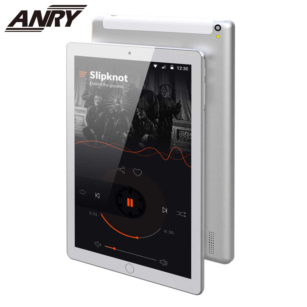 Anry Baru 10 Inch Asli 4G LTE Panggilan Telepon Android 7.0 Octa Core 4 GB + 64 GB Android tablet PC IPS HD PC Tablet 10.1 GPS WIFI