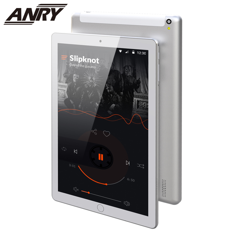 ANRY New 10 Inch Original 4G LTE Phone Call Android 7.0 Octa Core 4 GB+64 GB Android Tablet Pc IPS HD Pc Tablet 10.1 GPS WiFi