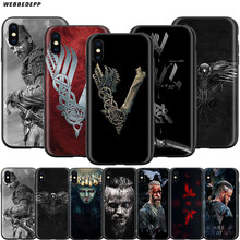 Webbedepp Vikings Caso di Serie per Il Iphone di Apple 11 Pro Xs Max Xr X 8 7 6 6S Plus 5 5S Se(China)