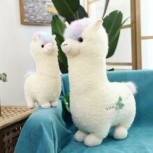 38/46cm kawaii branco alpaca llama brinquedos de pelúcia animais recheados bonecas de ovelhas pelúcia macio alpacasso brinquedos para presentes de aniversário das crianças