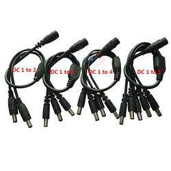 Камера видеонаблюдения 1 шт., кабель питания с разъемом «мама» на 2/3/4/5 штекера, адаптер, соединительный кабель, сплиттер для светодиодной лен...