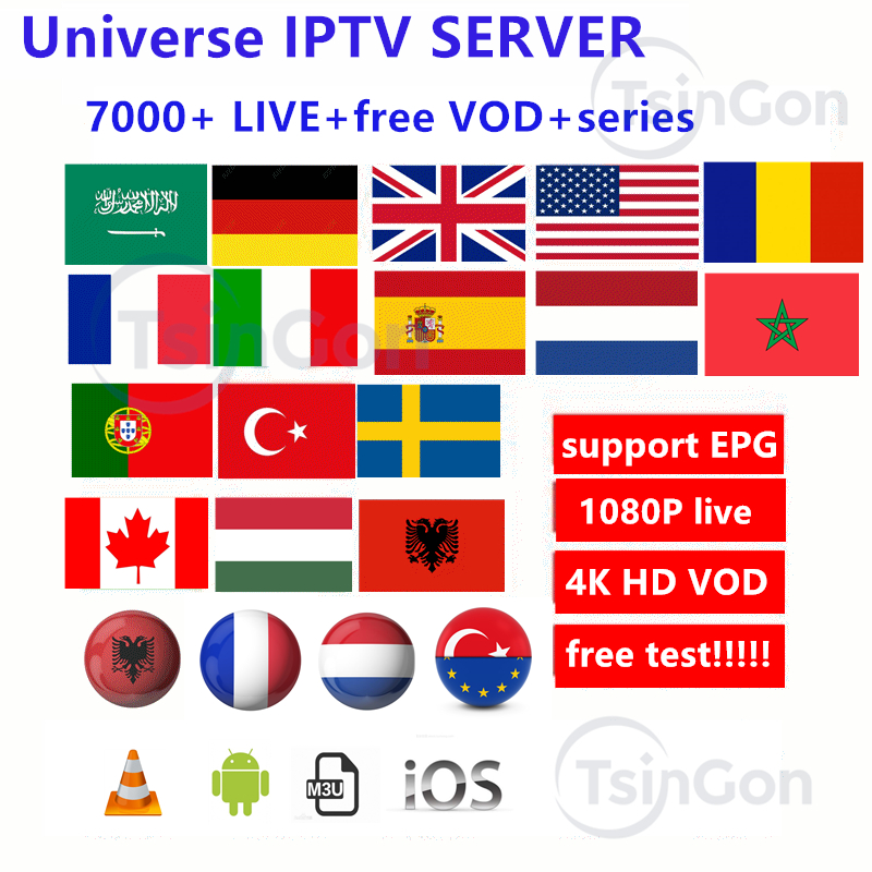 Europe IPTV Subscription France UK German Adult Xxx Arabic Dutch Sweden French Poland Portugal Spain Smart M3U 7000 Live Android