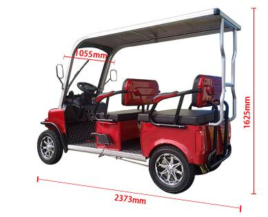 2020 New Design 4 Seater Adult Electric Golf Carts Motorized  Tandem Rickshaw Surrey Sightseeing Bicycle for Sale 2