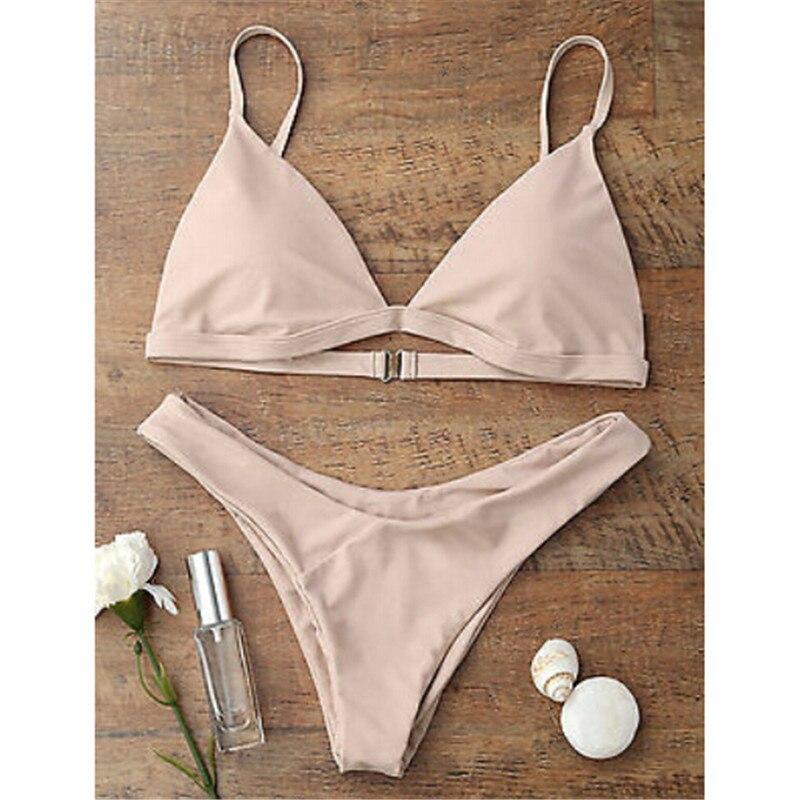 Bikini 2020 Push Up Swimwear Female Swimsuit Beach Women Solid Bathing Suits Swim Wear Bikini Set Swimwear Maillot De Bain Femme